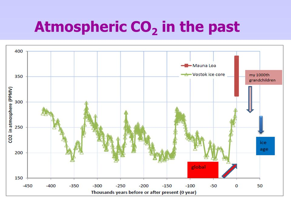 Atmospheric CO2 in the past