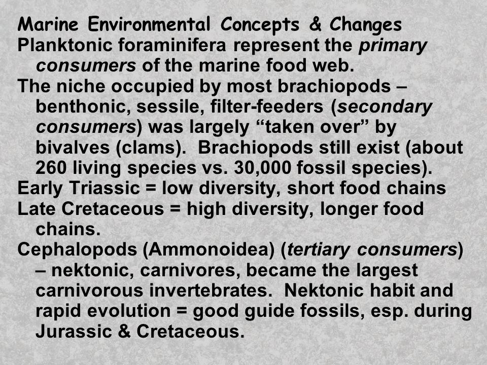 Marine Environmental Concepts & Changes