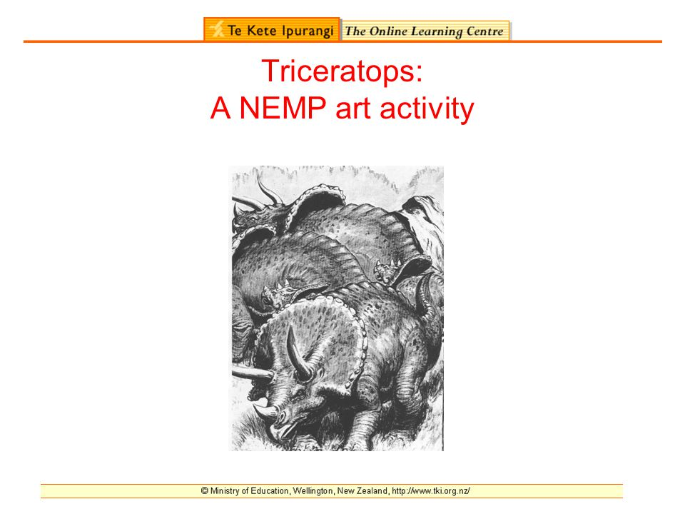 Triceratops: A NEMP art activity