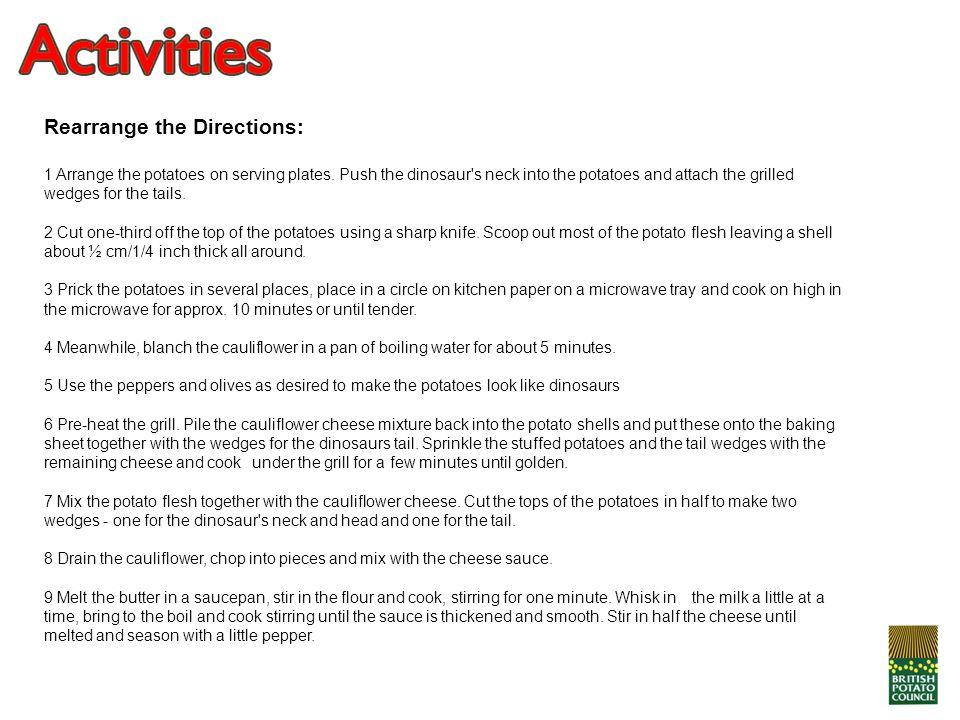 Rearrange the Directions: