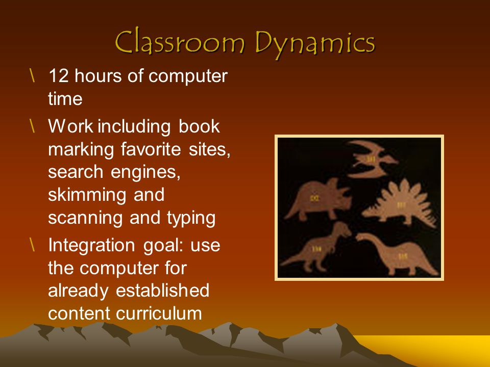 Classroom Dynamics 12 hours of computer time
