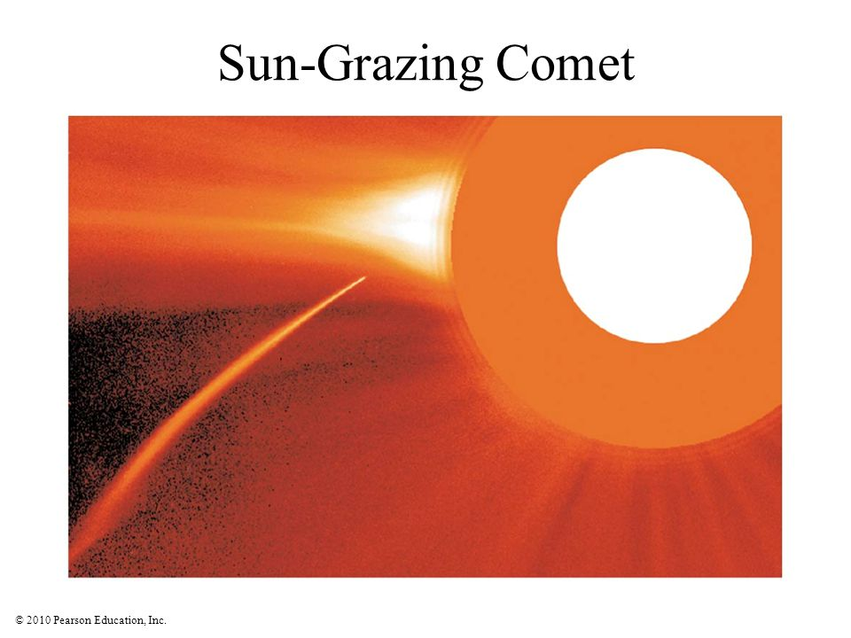 Sun-Grazing Comet Simple rocks and metal, occasionally carbon compounds and water. Shiny bits are metal flakes, first to condense.