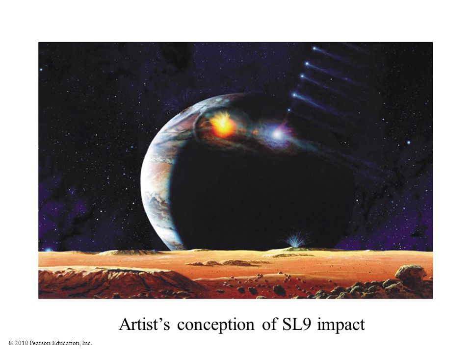 Artist's conception of SL9 impact