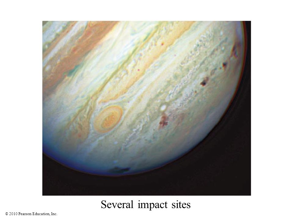 Several impact sites