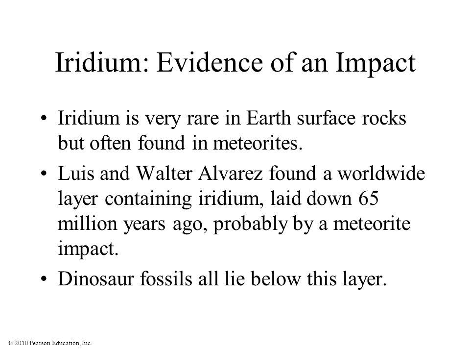 Iridium: Evidence of an Impact