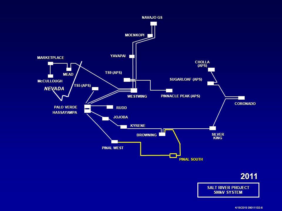 SALT RIVER PROJECT 500kV SYSTEM