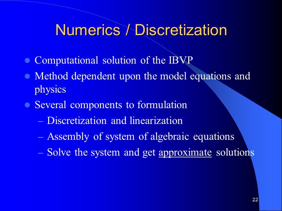 Numerics / Discretization