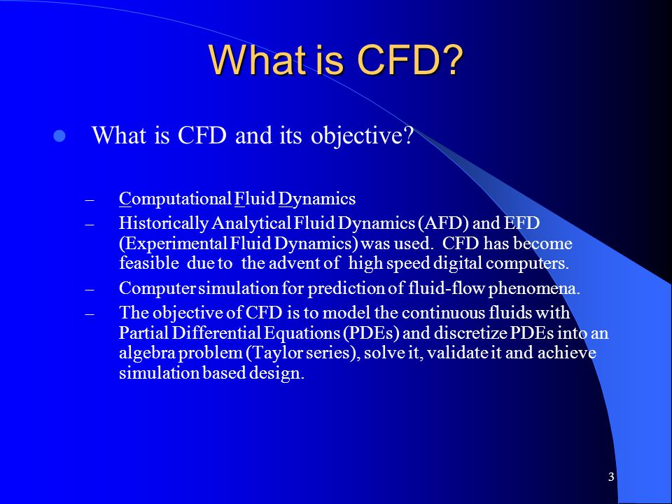 What is CFD What is CFD and its objective