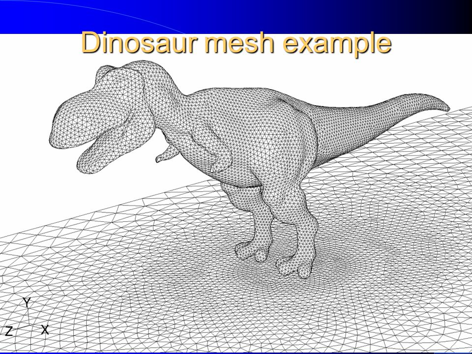 Dinosaur mesh example