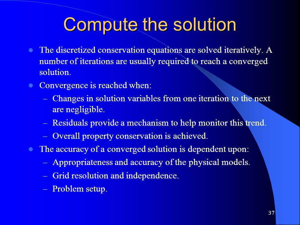 Compute the solution