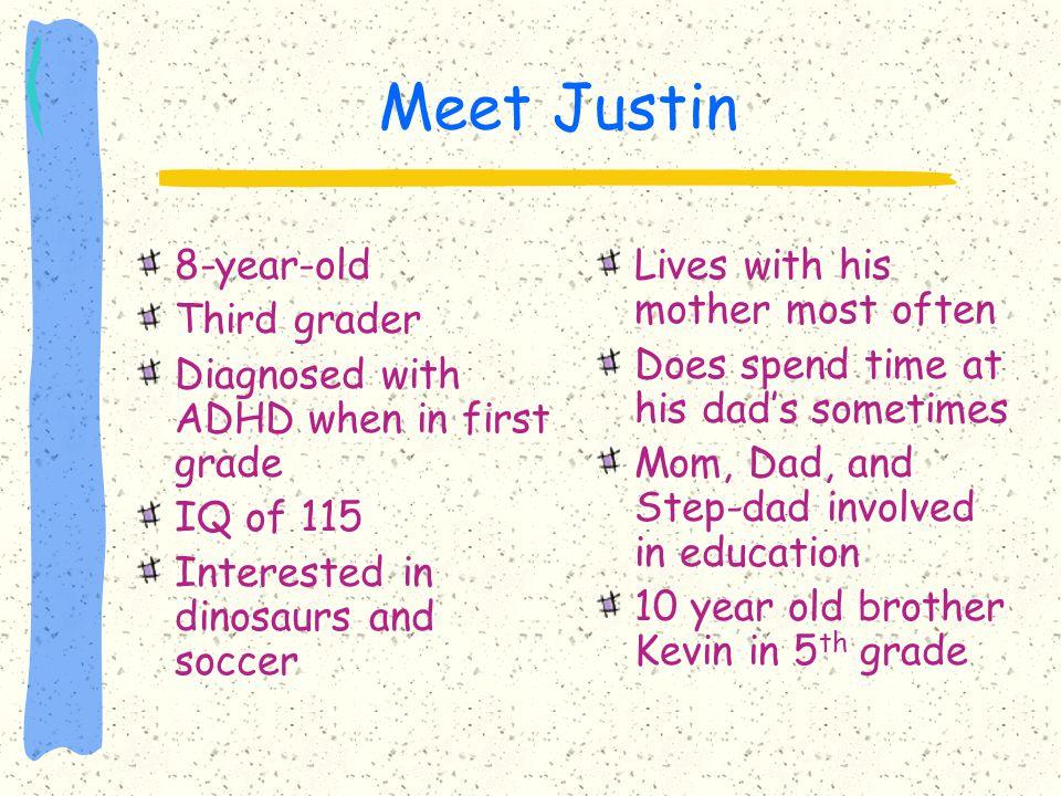 Meet Justin 8-year-old Third grader