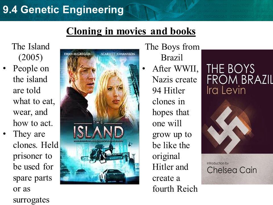 Cloning in movies and books