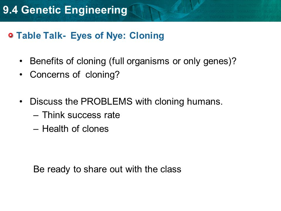 Table Talk- Eyes of Nye: Cloning