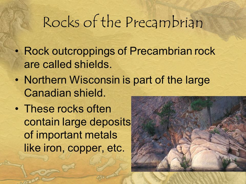 Rocks of the Precambrian