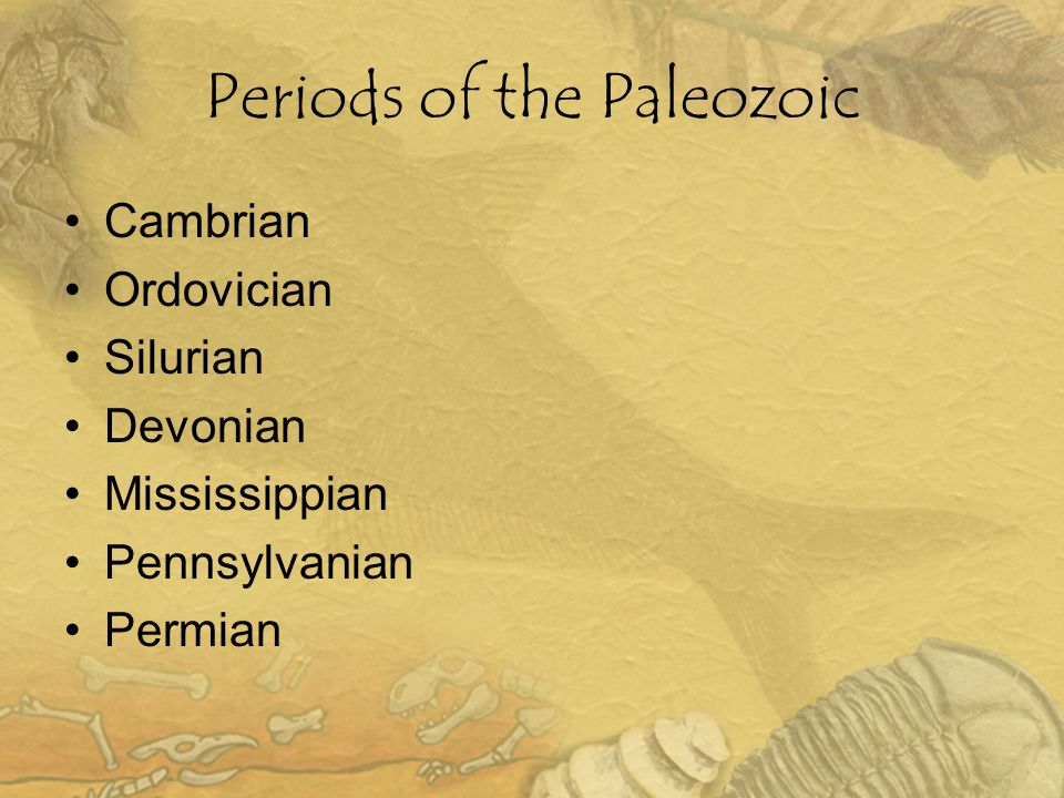 Periods of the Paleozoic