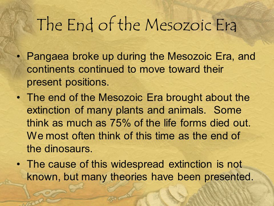 The End of the Mesozoic Era