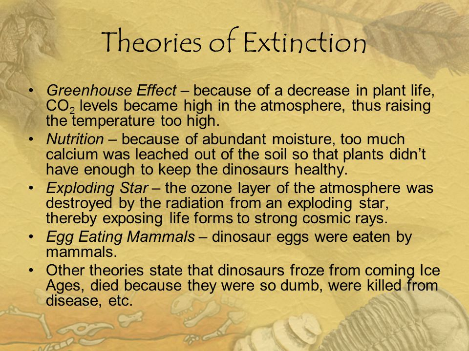 Theories of Extinction