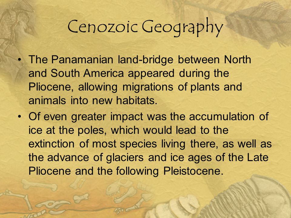 Cenozoic Geography