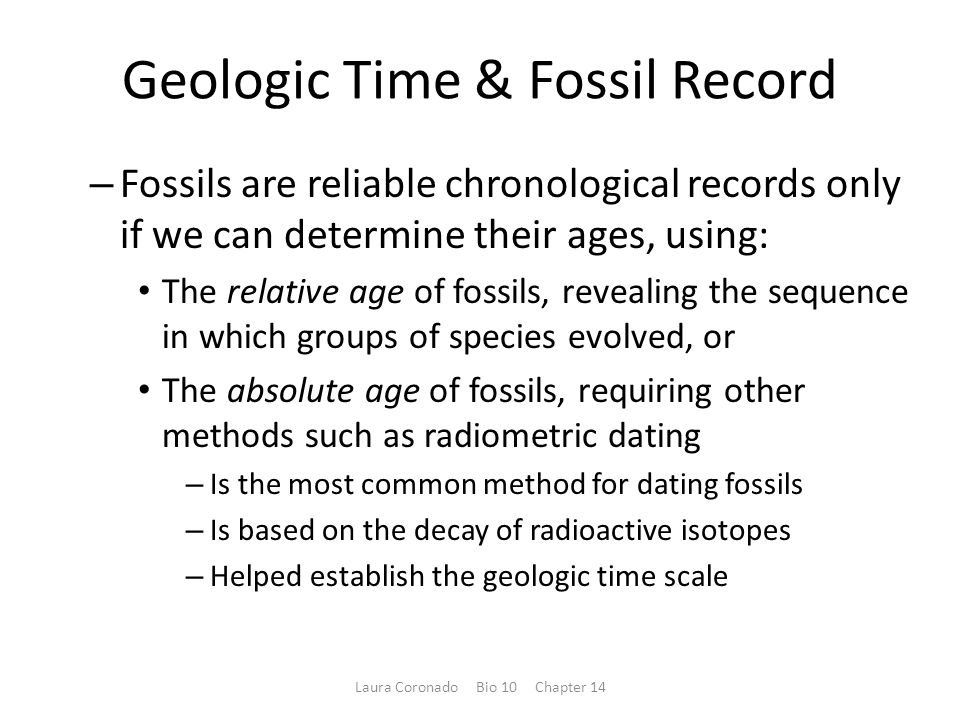 Geologic Time & Fossil Record