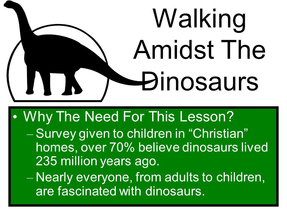 Walking Amidst The Dinosaurs