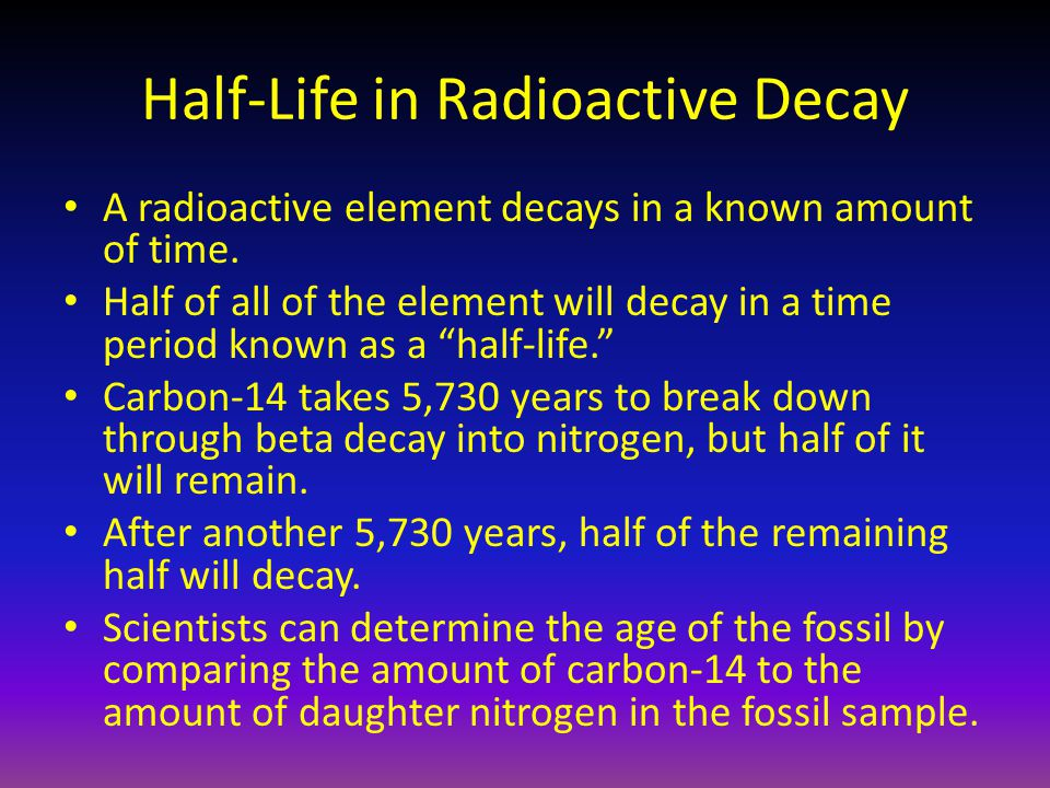 Half-Life in Radioactive Decay