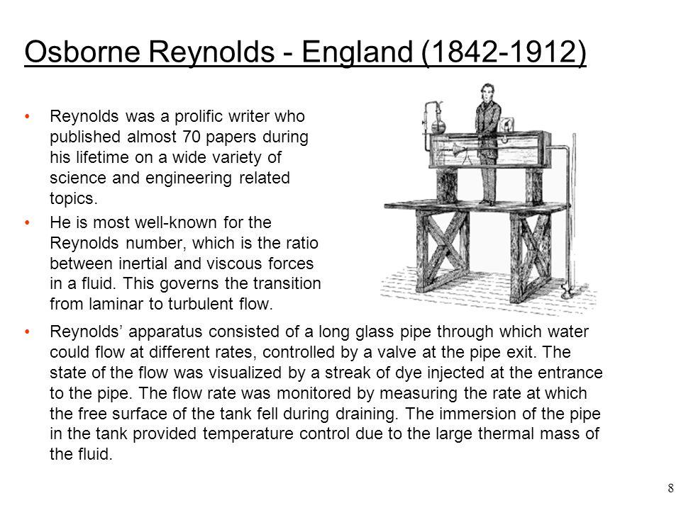 Osborne Reynolds - England (1842-1912)