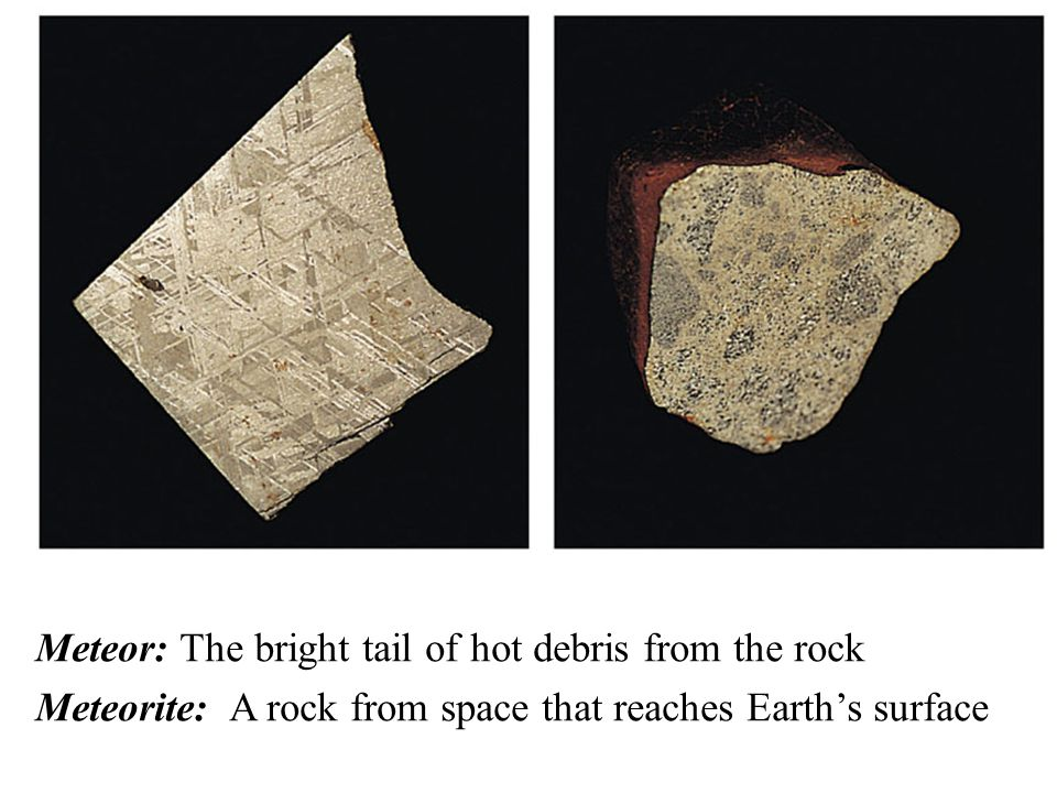 Meteor: The bright tail of hot debris from the rock