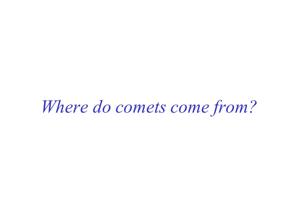 Where do comets come from