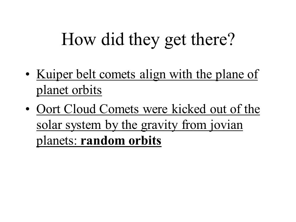 How did they get there Kuiper belt comets align with the plane of planet orbits.