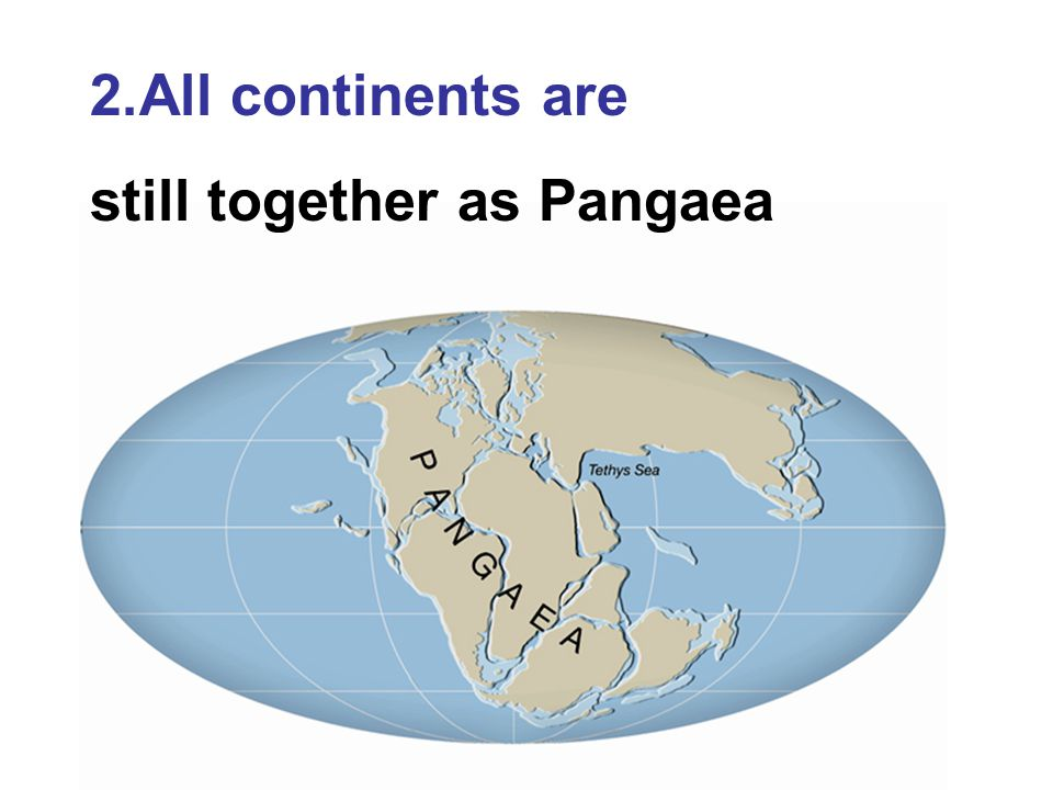 All continents are still together as Pangaea