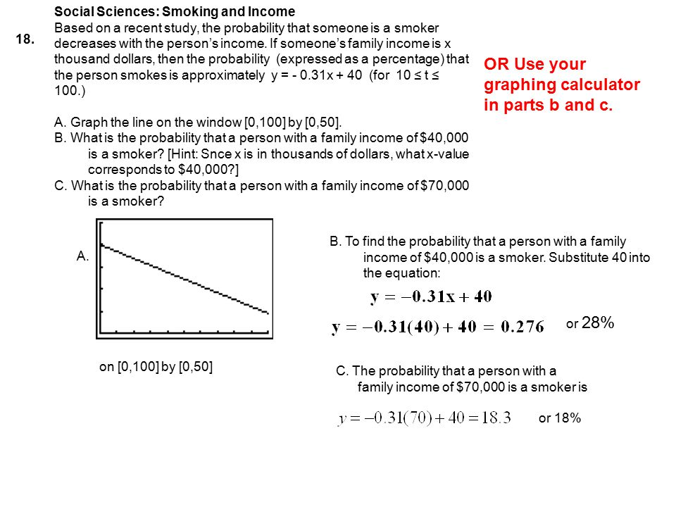 OR Use your graphing calculator in parts b and c.
