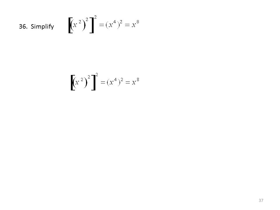 36. Simplify