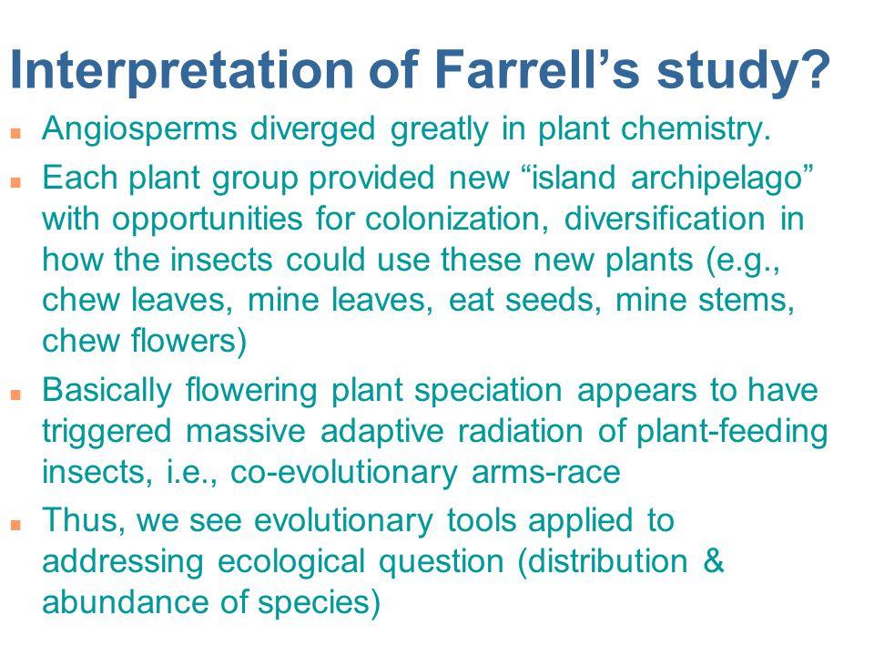 Interpretation of Farrell's study
