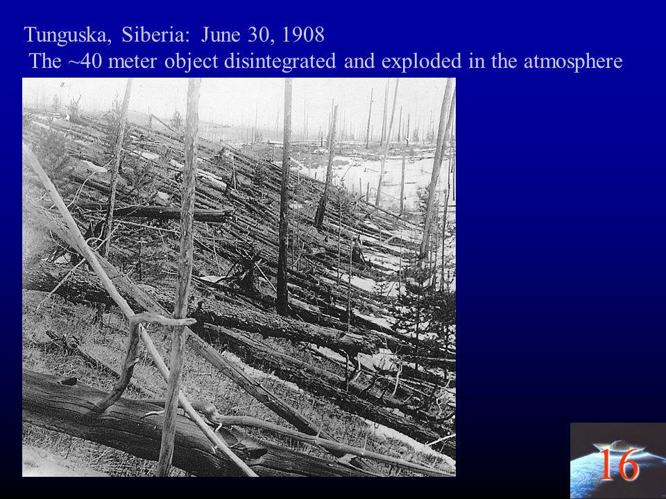 Tunguska, Siberia: June 30, 1908