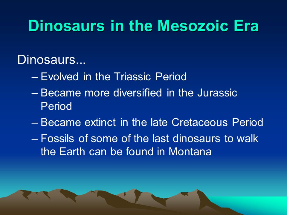 Dinosaurs in the Mesozoic Era