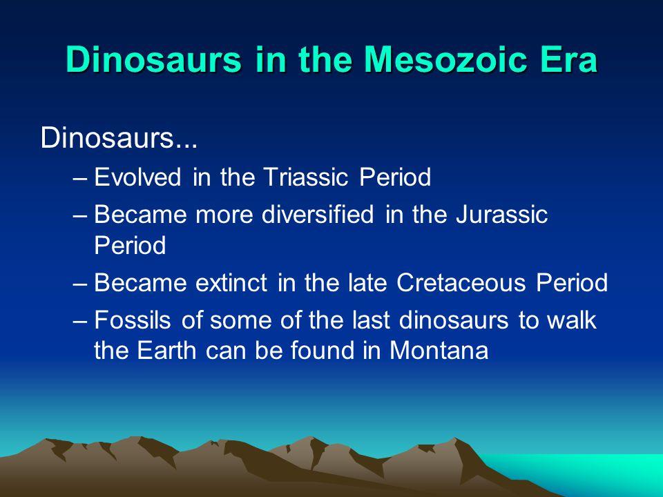 Dinosaurs in the Mesozoic Era
