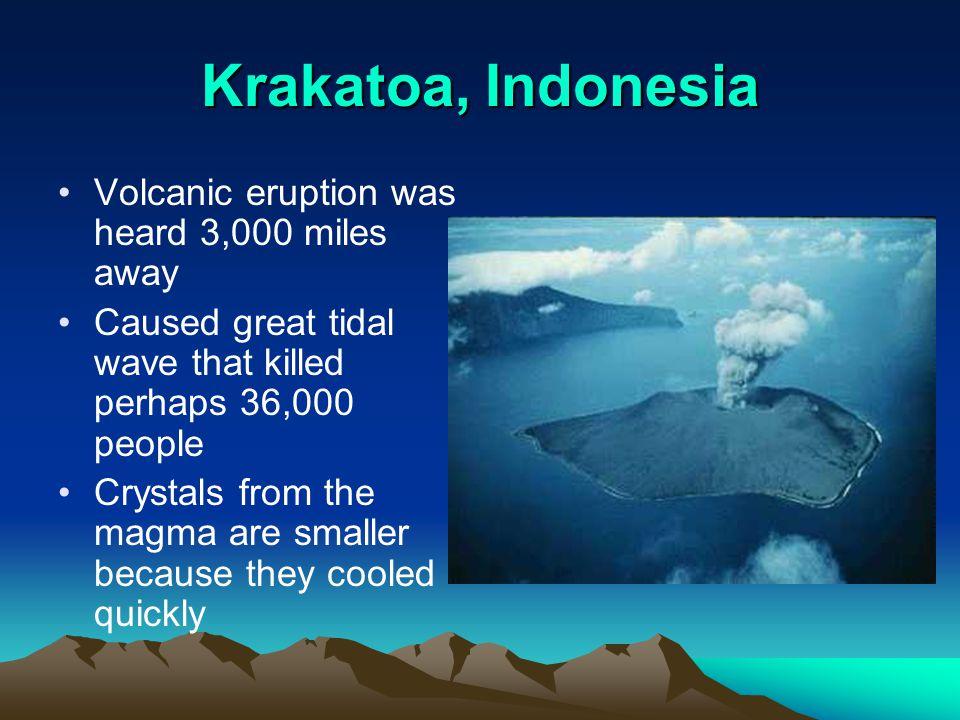 Krakatoa, Indonesia Volcanic eruption was heard 3,000 miles away