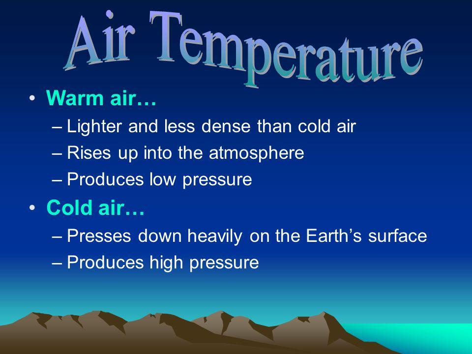 Air Temperature Warm air… Cold air…