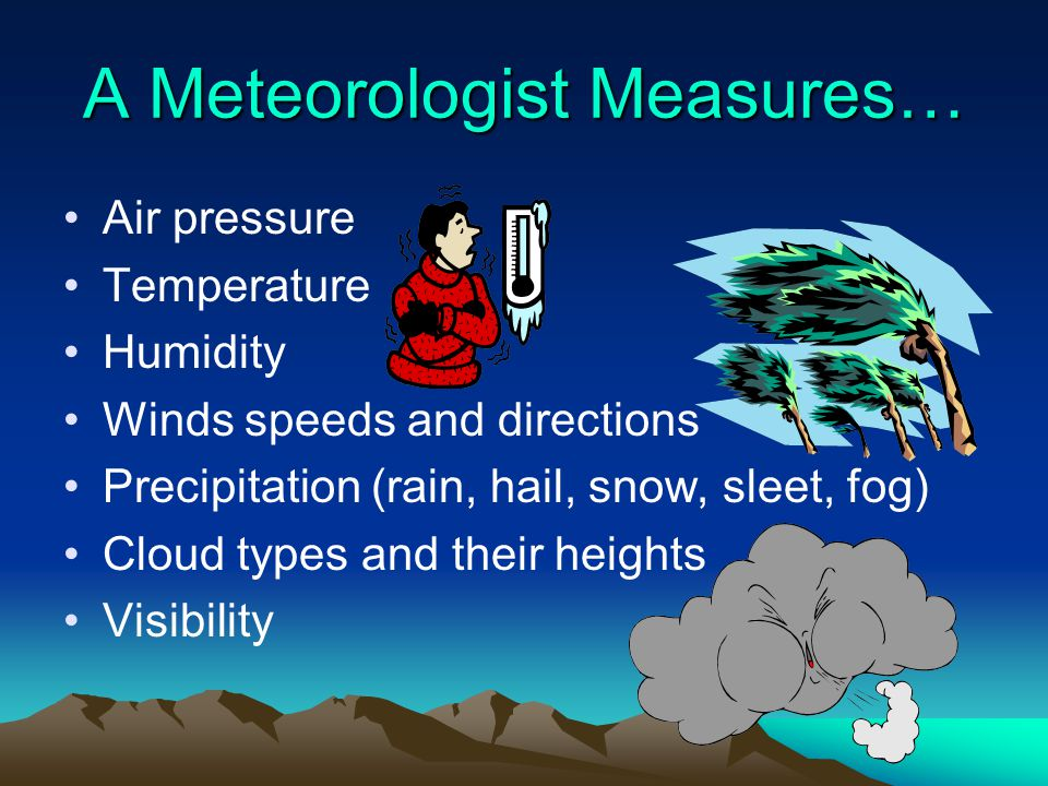 A Meteorologist Measures…