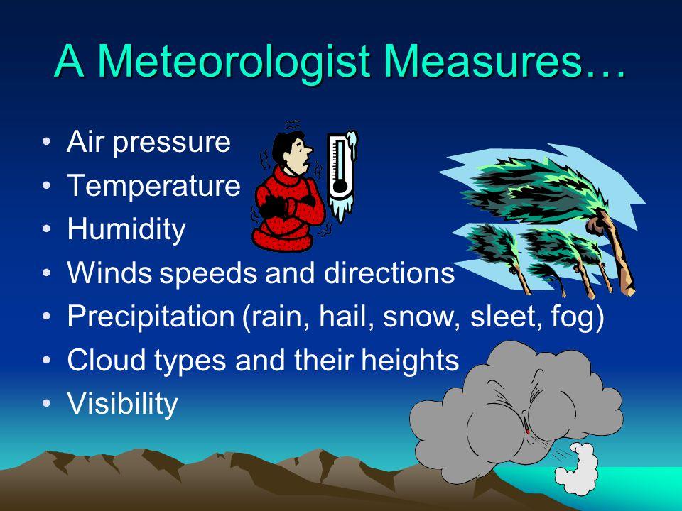 A Meteorologist Measures…