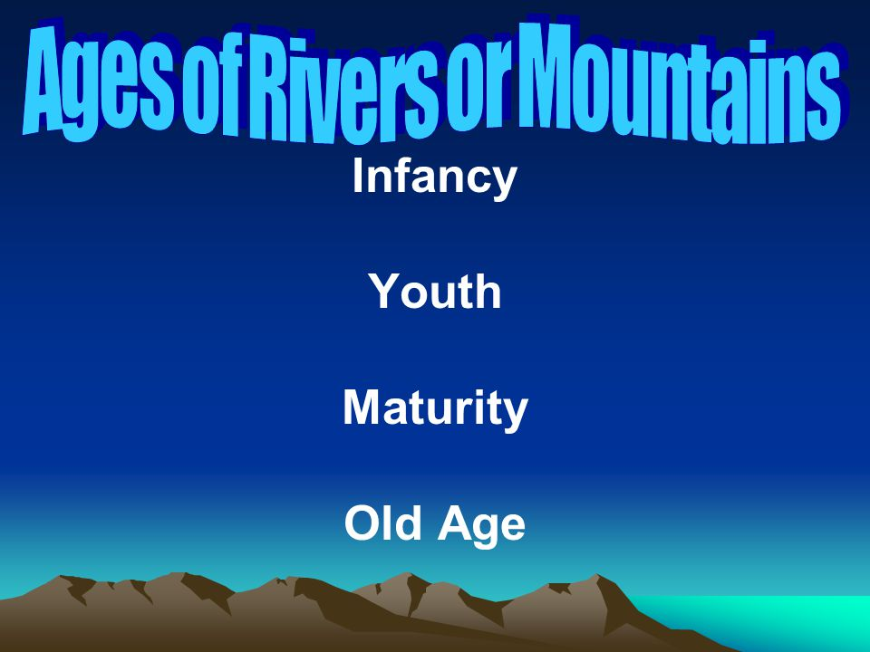 Ages of Rivers or Mountains