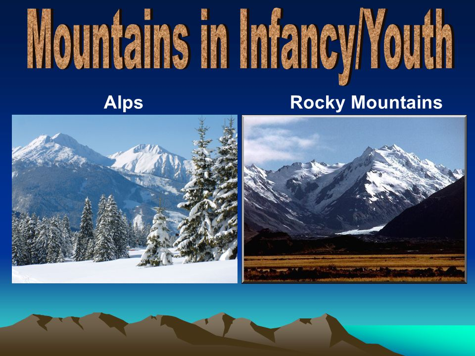 Mountains in Infancy/Youth