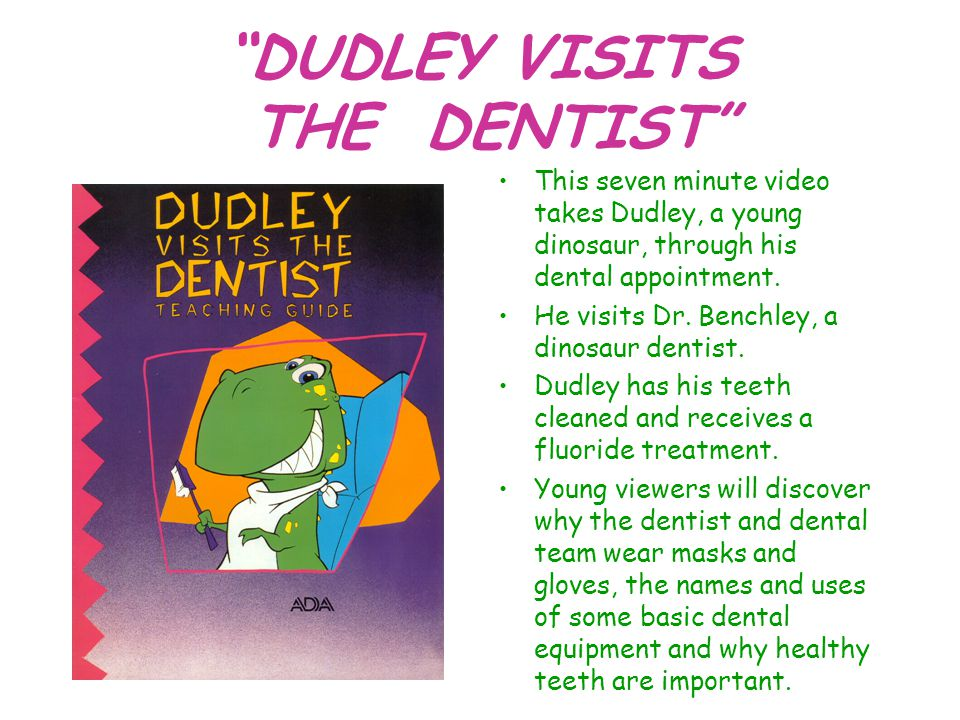 DUDLEY VISITS THE DENTIST