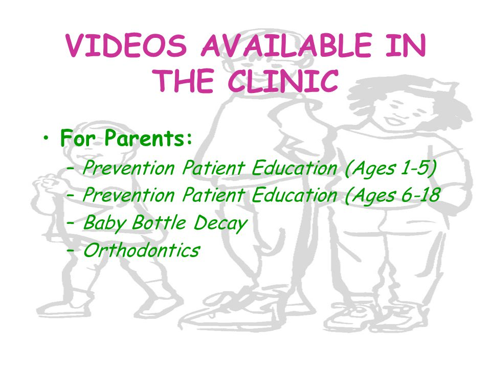 VIDEOS AVAILABLE IN THE CLINIC