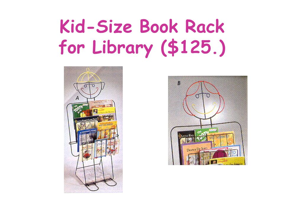 Kid-Size Book Rack for Library ($125.)