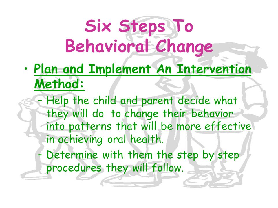 Six Steps To Behavioral Change