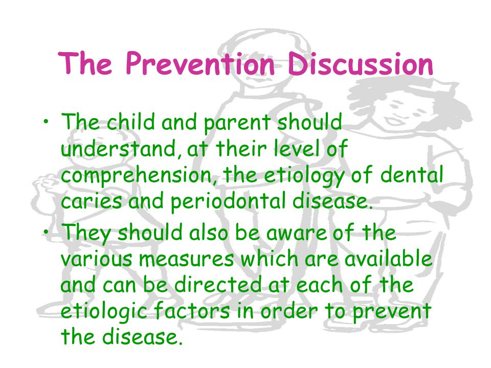The Prevention Discussion