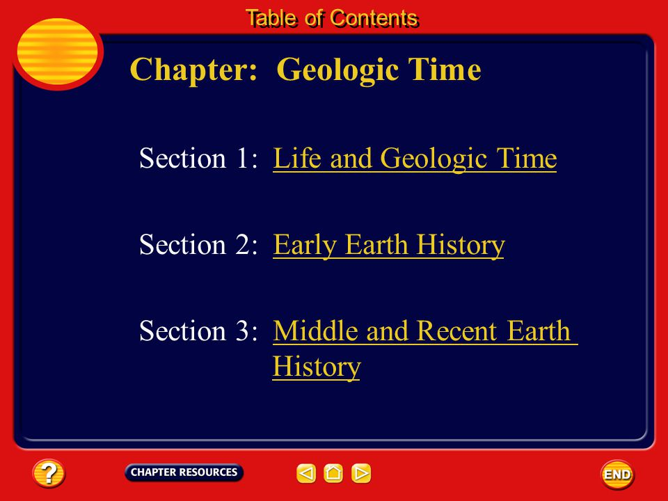 Chapter: Geologic Time