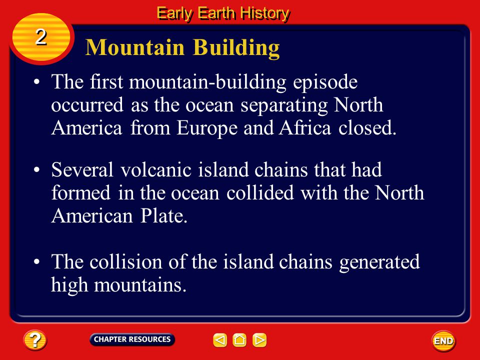 Early Earth History 2. Mountain Building.