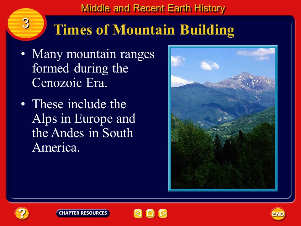 Times of Mountain Building